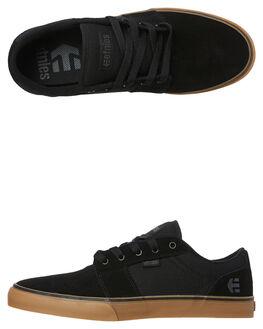 BLACK GUM GREY MENS FOOTWEAR ETNIES SKATE SHOES - 4101000351-969