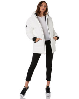 WINTER WHITE WOMENS CLOTHING HUFFER JACKETS - WDJA91S1302WWHT