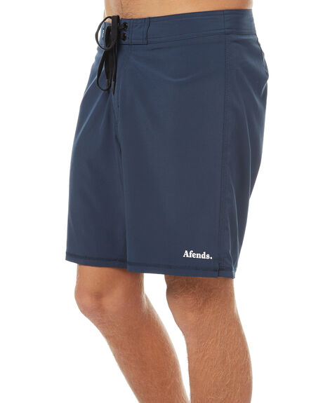 NAVY MENS CLOTHING AFENDS BOARDSHORTS - 10-01-077NVY