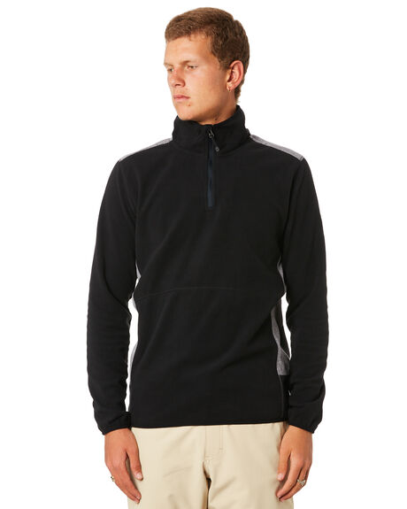 BLACK MENS CLOTHING QUIKSILVER JUMPERS - EQYFT03784KVJ0
