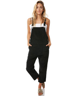 BLACK WOMENS CLOTHING RUE STIIC PLAYSUITS + OVERALLS - S118-89BLK