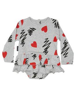 GREY KIDS GIRLS TINY TRIBE DRESSES + PLAYSUITS - TTF19-6040AGREY