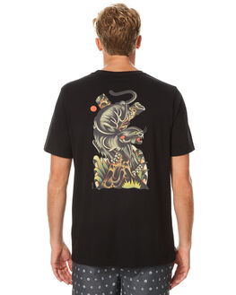BLACK MENS CLOTHING RVCA TEES - R171054BLK