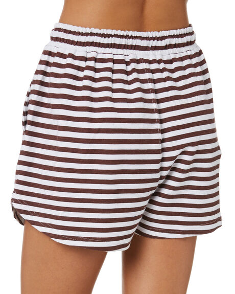 BROWN STRIPE OUTLET WOMENS SWELL SHORTS - S8202235BRN