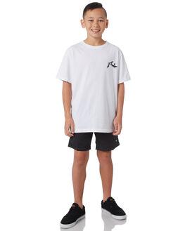 WHITE KIDS BOYS RUSTY TEES - TTB0604WHT
