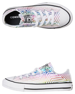 WHITE KIDS GIRLS CONVERSE SNEAKERS - 665398CWHT