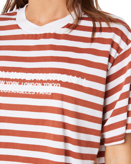 CARAMEL WOMENS CLOTHING STUSSY TEES - ST105114CSTP
