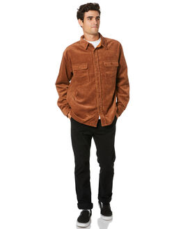 TORTOISE SHELL MENS CLOTHING RUSTY SHIRTS - WSM0807TOR