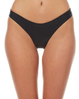BLACK WOMENS SWIMWEAR ASSEMBLY BIKINI BOTTOMS - A-SWIM-11BLK