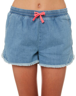 MID BLUE DENIM KIDS GIRLS EVES SISTER SHORTS + SKIRTS - 9920037MIDBL
