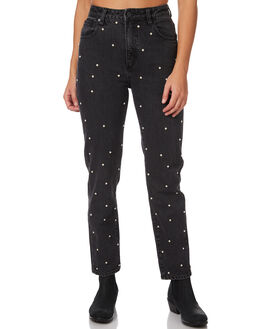 STUD LOVER WOMENS CLOTHING A.BRAND JEANS - 71161BSTLV