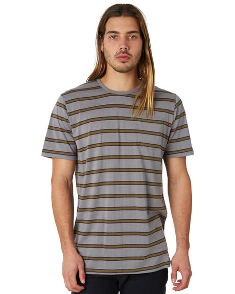OLIVE OUTLET MENS CAPTAIN FIN CO. TEES - CK174221OLI