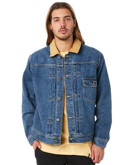 LIGHT BLUE MENS CLOTHING HUF JACKETS - HUF-JK00072-LBLUE