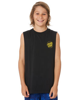 BLACK KIDS BOYS SANTA CRUZ TOPS - SC-YTD9273BLK