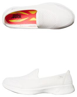 WHITE WOMENS FOOTWEAR SKECHERS SNEAKERS - 14170WHT