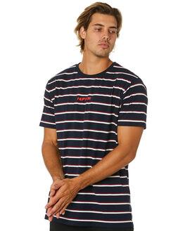 NAVY WHITE MENS CLOTHING HUFFER TEES - MTE01S2401NVYWT