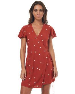 RUST RED STAR WOMENS CLOTHING RUE STIIC DRESSES - SO1731PRUSTR