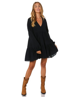 BLACK WOMENS CLOTHING RUE STIIC DRESSES - SA-20-16-1BLK
