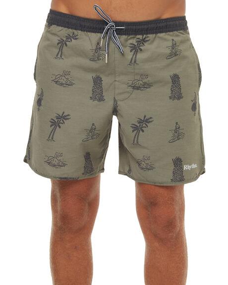 OLIVE MENS CLOTHING RHYTHM BOARDSHORTS - JAN18M-JM08OLI