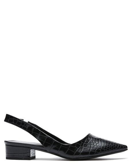 BLACK CROC WOMENS FOOTWEAR THERAPY HEELS - 10361BCROC