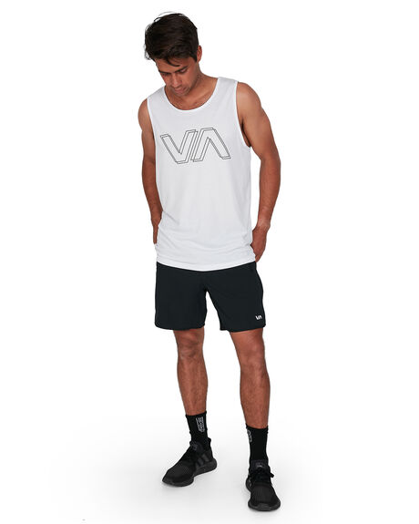 WHITE MENS CLOTHING RVCA SINGLETS - RV-R307004-WHT