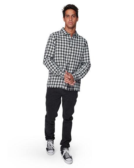 BLACK MENS CLOTHING RVCA SHIRTS - RV-R307184-BLK
