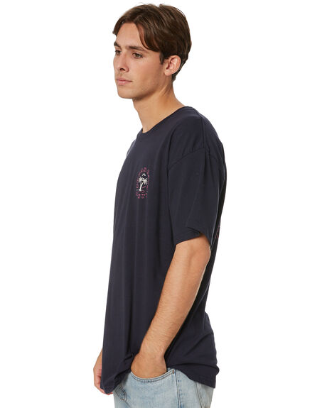 NAVY BLUE MENS CLOTHING RUSTY TEES - TTM2573NVB