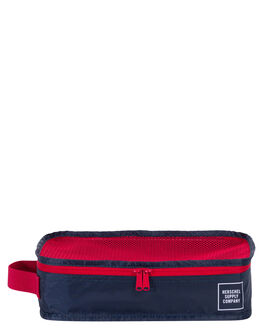 NAVY RED MENS ACCESSORIES HERSCHEL SUPPLY CO BAGS - 10297-01410-OSNVRD