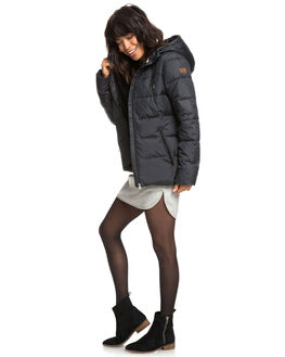 TRUE BLACK WOMENS CLOTHING ROXY JACKETS - ERJJK03254-KVJ0