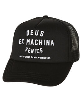 BLACK MENS ACCESSORIES DEUS EX MACHINA HEADWEAR - DMA47620BLK