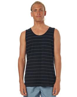 BLACK MENS CLOTHING GLOBE SINGLETS - GB01212012BLK
