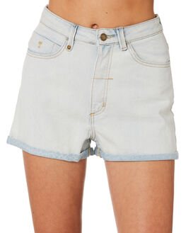 ICE BLUE WOMENS CLOTHING THRILLS SHORTS - WTDP-321IEICEB