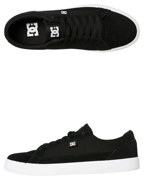 BLACK WHITE MENS FOOTWEAR DC SHOES SNEAKERS - ADYS300489BKW
