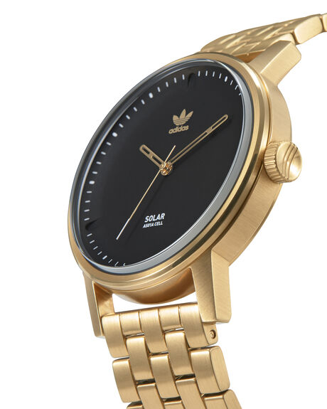 GOLD BLACK MENS ACCESSORIES ADIDAS WATCHES - Z24-513-00GLD