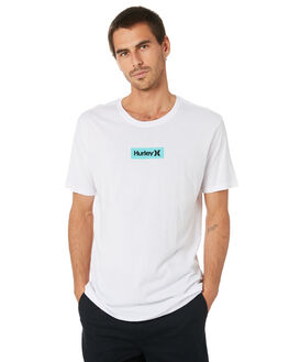 WHITE AURORA GREEN MENS CLOTHING HURLEY TEES - AJ1777101