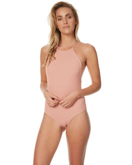 DUSTY PINK WOMENS SWIMWEAR THRILLS ONE PIECES - WTH7-804PDST
