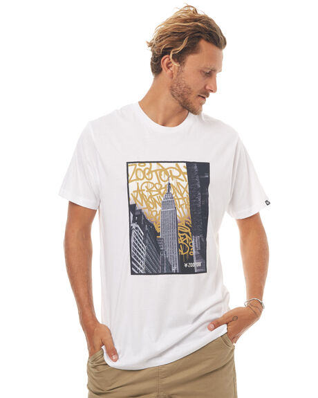 WHITE MENS CLOTHING ZOO YORK TEES - ZY-MTD7084WHT