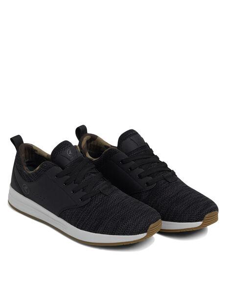 BLACK MENS FOOTWEAR KUSTOM SNEAKERS - KS-4993120-BLK