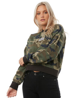 CAMO WOMENS CLOTHING STUSSY JUMPERS - ST185314CAMO