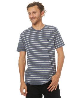 NAVY STRIPE MENS CLOTHING BARNEY COOLS TEES - 112-MC3NVYS