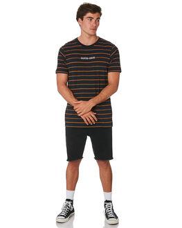 BLACK STRIPE MENS CLOTHING SANTA CRUZ TEES - SC-MTC9260BLKST