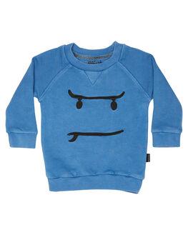 WASHED BLUE KIDS BABY MUNSTER KIDS CLOTHING - MI172FL02WBLU