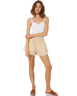 GINGHAM YELLOW WOMENS CLOTHING AFENDS SHORTS - W184352YELL