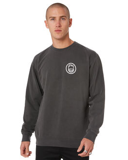 PIGMENT DYED BLACK MENS CLOTHING SPITFIRE JUMPERS - 53010014CPGBLK