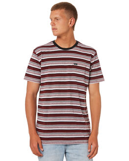 BORDEAUX MENS CLOTHING RVCA TEES - R184048BORDX