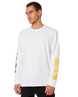 WHITE MENS CLOTHING HUF TEES - TS01308-WHT