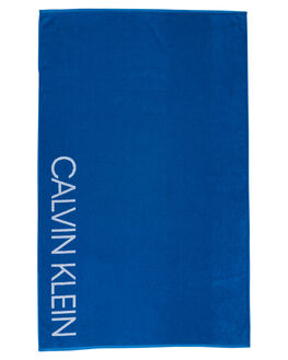 IMPERIAL BLUE MENS ACCESSORIES CALVIN KLEIN TOWELS - KU00025-412IMBLU