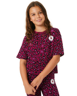 ROSE MAROON KIDS GIRLS CONVERSE TOPS - R46A093ACR
