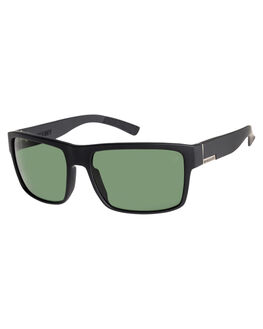 MATT BLACK GRN POLAR MENS ACCESSORIES QUIKSILVER SUNGLASSES - EQYEY03023XKGG