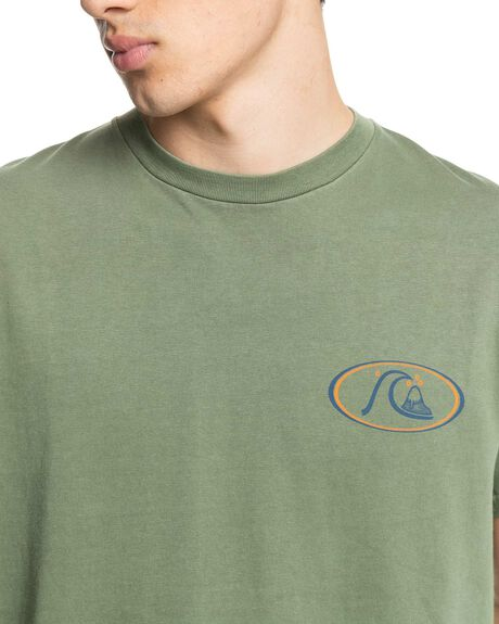OLIVINE MENS CLOTHING QUIKSILVER TEES - EQYZT06528-GNR0